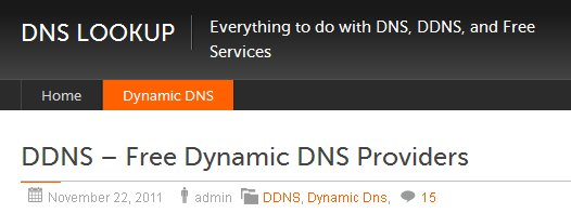 DDNS – Free Dynamic DNS Providers Overview